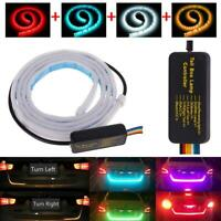 4 Color LED Strip Car Rear Trunk Tailgate Brake Turn Signal Light Flow Type Lamp
