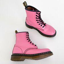 Dr. Martens   Size 6   1460 Leather 8 Eye Lace Up Combat Boots Bubblegum Pink