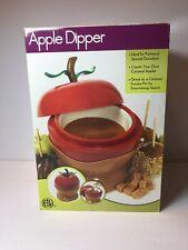NIB Apple Dipper Entertaining Fondue Pot Party Holiday Dessert Dipping Pot