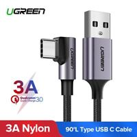 Ugreen Nylon USB C Type C Cable Angled Fast Charging Data Cord for Samsung