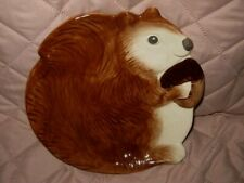 """Better Homes And Garden~Squirrel Holding an Acorn 8"""" salad plate By Earthenware"""