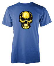 Cráneo de oro metálico brillante Camiseta Adulto