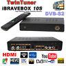 DVB-S/S2 Tuner H.265 satellite receiver iBRAVEBOX F10S decoder 1080p HD Powervu