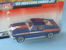Matchbox 1968 Ford Mustang Cobra Jet Blue in BP Toy Model Car 70mm Retro Muscle