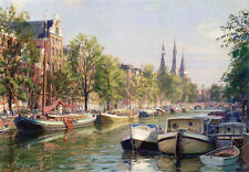John Stobart Print - Amsterdam: The Herengracht