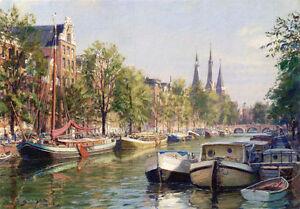 John Stobart Print - Amsterdam: The Herengracht