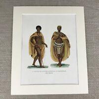 1922 Etnico Stampa Khoikhoi Tribe Africano Abito Storico Costume Khoisan
