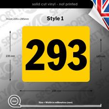 ACU Race Number Rectangles / Plates / Sticker - Front, Side & Sets 3227-0219