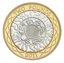 2011 £2 GOOD CONDITION TWO POUND COIN HUNT 01/32 RARE BI-METAL 2 zz