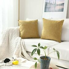 """Kevin Textile Throw Cushion Cover Faux Linen Home Decorative Hand Made 18"""" x 18"""""""