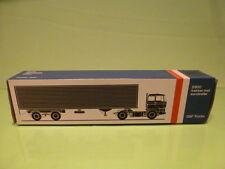 LION CAR 59 DAF TRUCKS 2800 + EUROTRAILER - 1:50 GOOD - * ONLY EMPTY BOX * (3)