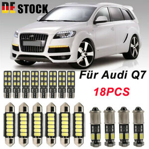 LED SMD INNENRAUMBELEUCHTUNG Für Audi Q7 4L Innenbeleuchtung Xenon Weiß Lampe DE