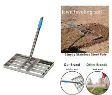 Steel Pole Heavy Duty Yard Soil Golf Level Lawn 5FT Leveling Rake Leveler Tool