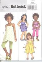 Butterick 5020 Girls' Top, Dress, Shorts, Pants and Leggings  Sewing Pattern