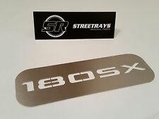 [SR] '180SX' V2 Center Dash AC Vent Cover Panel for S13 240SX 200SX (Stainless)