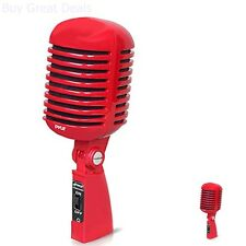 Microphone Vintage Look Old Style Dynamic Vocal Classic Retro Studio Stage Voice