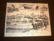 Grandi manovre militari a Novara nel 1876 Locomotiva Varallo Pombia Cavalleria