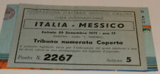 Ticket for collectors * Italy - Mexico 1971 in Genoa