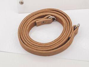 Vintage Quality Tan Leather Camera Neck Strap SLR & Medium Format Hasselblad