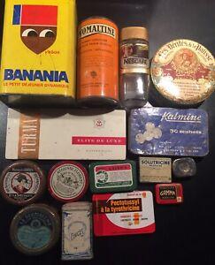 Rare Lot Ancienne Boite Publicitaire Banania Solutricine Ovomaltine Nescafé