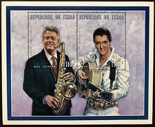 CHAD BILL CLINTON AND ELVIS PRESLEY STAMPS COMMEMORATIVE SOUVENIR SHEET 1996 MNH