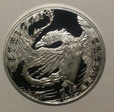 """2016 UK Silver Stackers 1oz Silver Round Mythical Creatures """" PHOENIX """""""