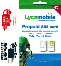 Lyca Mobile Sim Card Kit - Triple Cut (T-Mobile/Gsm Unlocked Compatible)