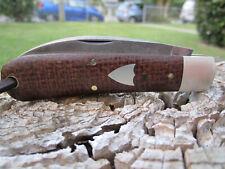 Great Eastern Cutlery Tidioute #47 GEC Viper 470120 Brown Burlap Micarta w/ Pin