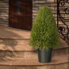 Artificial 30 in. Upright Juniper Tree in Green Round Growers Pot Floral Decor