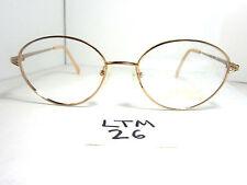 Nos 1980s CHARMANT Eyeglass Frame US 7606 Titanium Color GP Gold Japan (LTN-26)