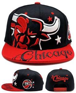 Chicago New Leader AngryBull Colossal Bulls Color Black Red Era Snapback Hat Cap