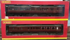 More details for pair of hornby hawksworth brake coaches br maroon - modified