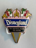 DL 1998 Attraction Series Disneyland Happiest Place On Earth Sign Disney Pin B9