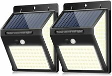 2 x Solar Powered 140 LED Motion Sensor Wall Security Light Garden Outdoor Lamp