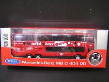 Welly 1:64 Daimiler Mercedes-Benz MB 0 404 DD World Tour Bus DieCast Bus
