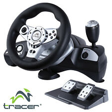 Racing Steering Wheel TRACER PC Computer PS2 PS3 with Gas Pedals Vibrating 270
