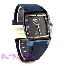 Blaue Analoge vergoldete Armbanduhren