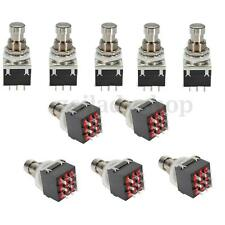 10x Auto 3PDT 9 Pin Stomp box Guitar Effects Pedal Foot Switch Metal True Bypass