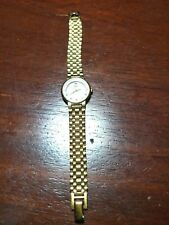 Gold Strap and White Dial Water proof Vintage 70'S for ladies Classic Watch