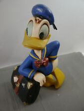 Vintage Donald Duck mit Koffer  Stature Figur ca. 30cm  Disney (F8)