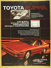 1986 Toyota SUPRA red car color photo vintage print Ad