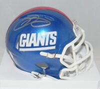 ODELL BECKHAM JR SIGNED NEW YORK GIANTS COLOR RUSH SPEED MINI HELMET JSA
