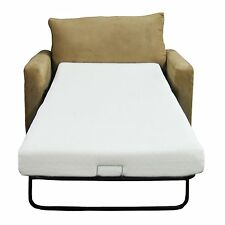 Sofa Foam Mattress Replacement Bed Twin Size Couch Sleeper Cot Chair Futon White
