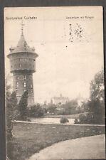 Germany 1914 Nordseebad Cuxhafen Wasserturm m Anlagen post card to Louisvile KY
