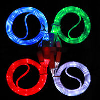 Light-up LED USB Data Sync Charger Cable Charging Luminous For Android Phone