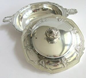 Antique Tiffany & Co Makers Sterling Silver Covered Vegetable Serving Dish Bowl