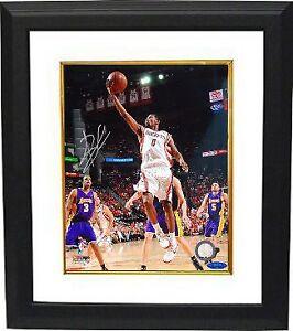 Aaron Brooks signed Houston Rockets 8x10 Photo Custom Framed- Tri-Star Hologram