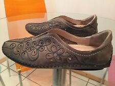 Pikolinos Leather Shoes Slip Ons Grey/blue Size 41