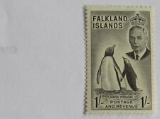 Falkland Islands GV1 1952 Definitive 1/- value very very lightly hinged mint.