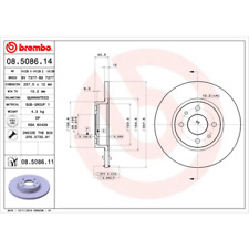Disco freno (2 pezzi) coated disc Line-BREMBO 08.5086.11